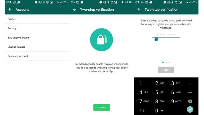WhatsApp Yatoa Two Step Verification kwa Watumiaji Wote