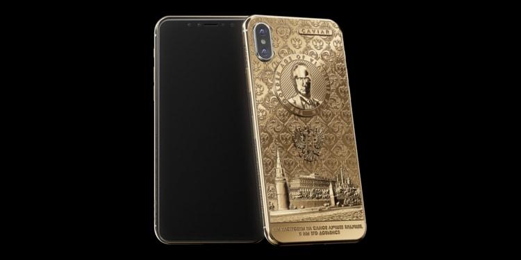 iPhone X Gold Kwaajili ya Kusherekea Ushindi wa Raisi Putin