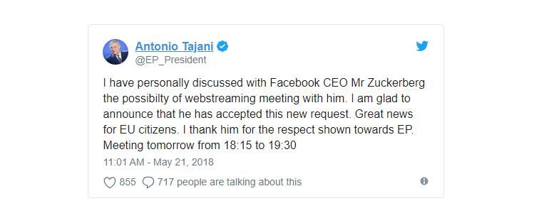 Mark Zuckerberg Kuhojiwa Kesho na Wabunge wa Ulaya