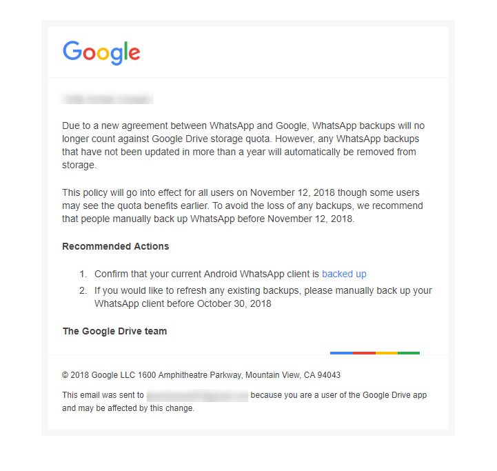 Email kutoka Google