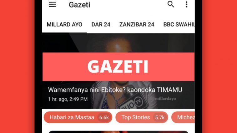 App Mpya ya Gazeti App