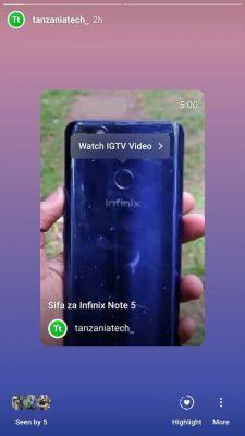 Sasa Unaweza Kushare Video za IGTV Kwenye Stories