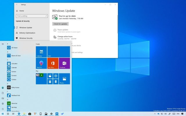 Muonekano wa Toleo Jipya la Windows 10 version 1903.