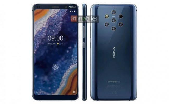 Picha ya Simu Mpya ya Nokia 9 PureView Yenye Kamera Tano