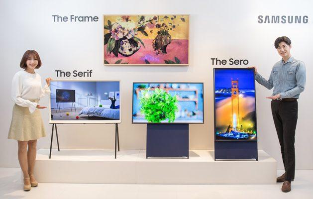 Samsung Yazindua (The Sero) TV Mpya Zinazo Simama Wima
