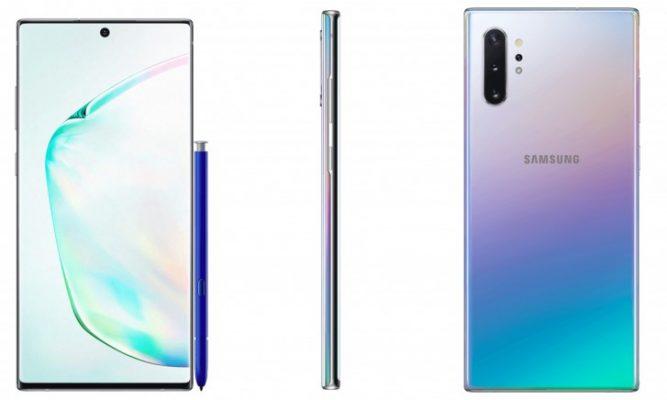 Muonekano Halisi wa Samsung Galaxy Note 10 na Note 10 Plus