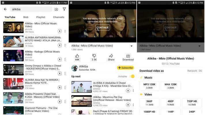 Download Video Mpya Kutoka Mtandao Wowote (Android)