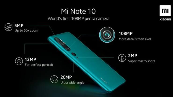 Xiaomi Yazindua Mi Note 10 Simu Yenye Kamera ya MP 108