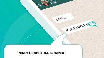 Kutafsiri SMS au Meseji Yoyote ya WhatsApp kwa Haraka