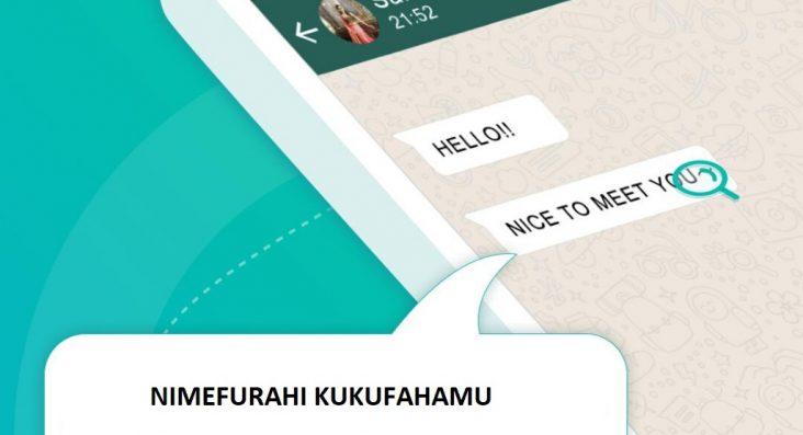 Tafsiri SMS au Meseji Yoyote ya WhatsApp kwa Haraka