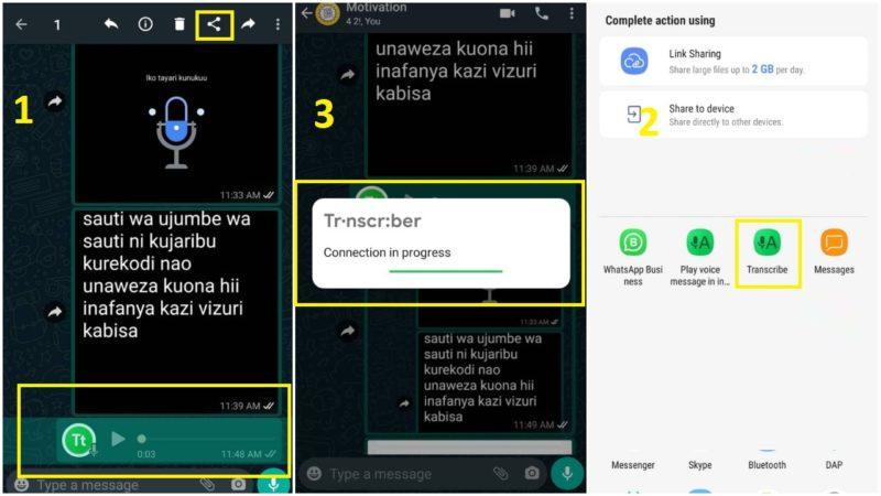 Jinsi ya Kubadilisha WhatsApp Voice Kuwa Ujumbe wa Maandishi