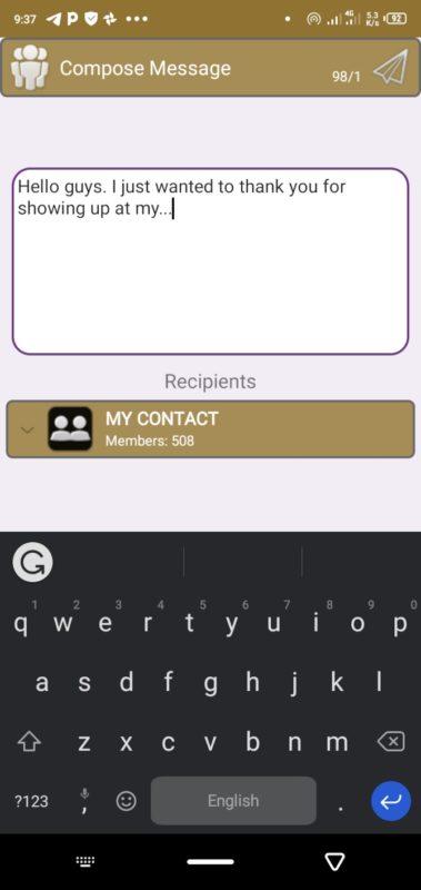 Apps za Kusaidia Kutuma SMS Nyingi kwa Pamoja (Android)