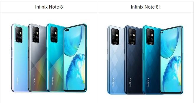 Infinix Yazindua Simu Mpya za Infinix Note 8 na Note 8i