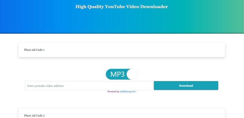 Tengeneza Tovuti ya Blogger ya Kupakua MP3 Kutoka Youtube