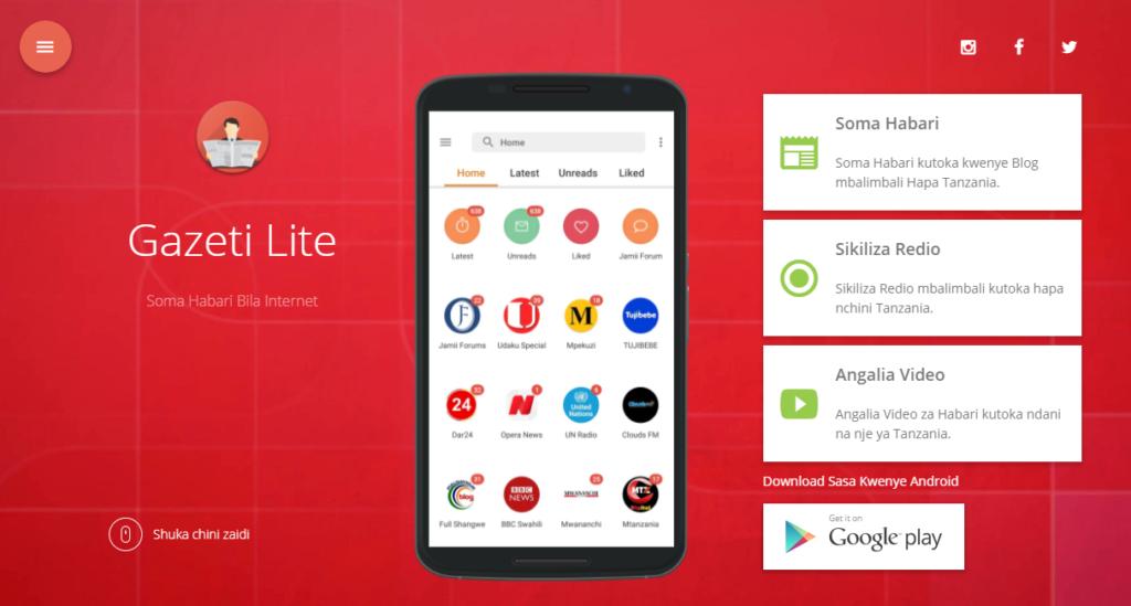 Gazeti Lite : Soma Habari Mpya Bila Internet (Android)