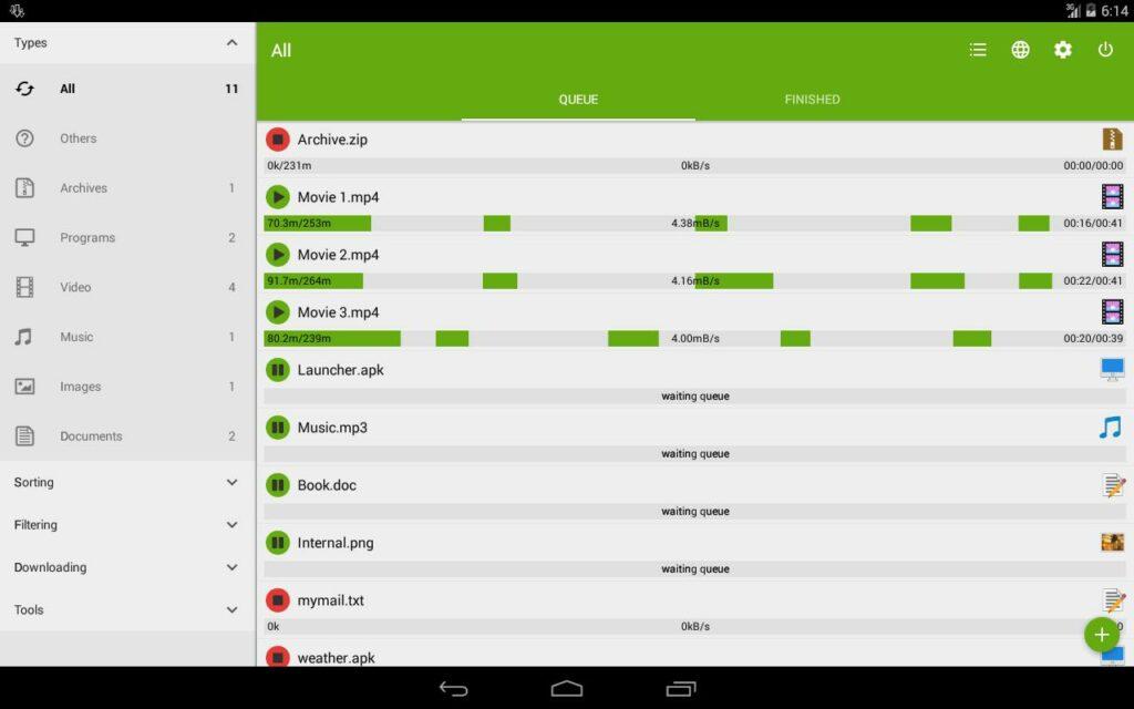 Apps za Kudownload Mafile Makubwa kwa Haraka (Android)