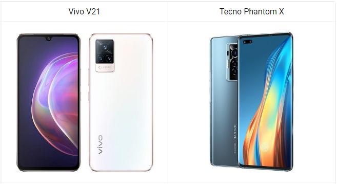 Simu Gani ya Kununua Kati ya Vivo V21 na Tecno Phantom X
