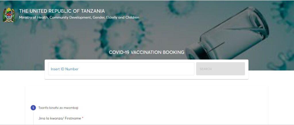 Fanya Booking Mtandaoni Kupata Chanjo ya Uviko 19 (Covid-19)