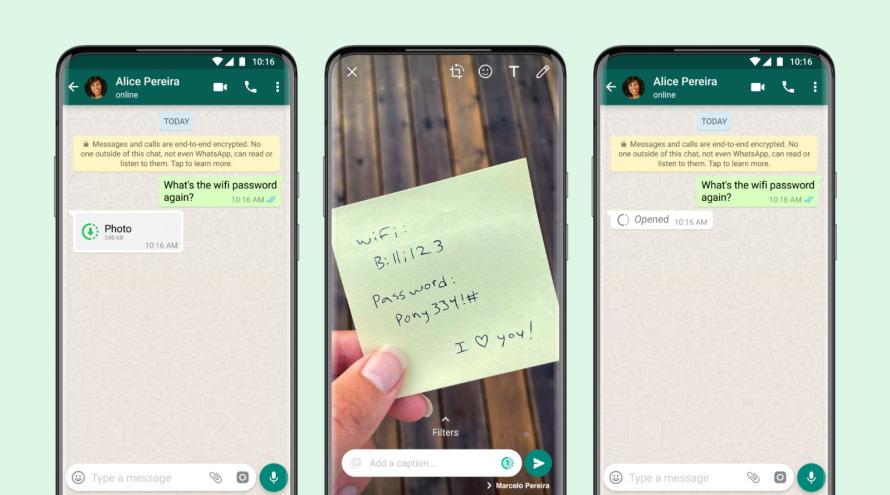 Tuma Picha au Video Inayo Onekana Mara Moja WhatsApp